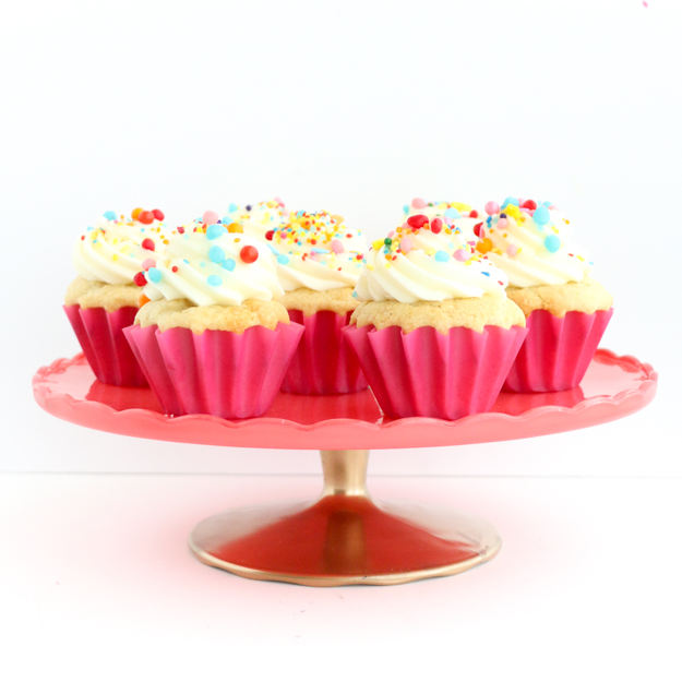 custom colored cake stands Ikea hack - easter desserts - wedding cake table idea - diy craft project - spray paint project