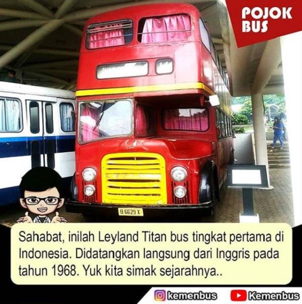 Bus Tingkat Pertama di Indonesia Leyland Titan