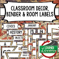 CLASSROOM DECOR, BINDER LABELS, ALL SUBJECTS, , Social Studies Geography and World History Binder Covers and Labels World Maps, Secondary Classroom Decor