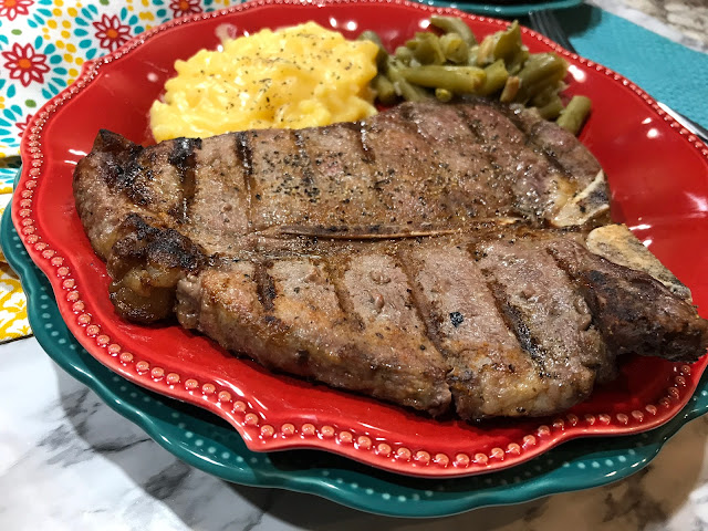 Ribeyes is one of my favorite meals. Ever. All cuts of beef have always been my favorite, It is the perfect meal for me. It reminds me of growing up on a cattle farm, dad cooking on the grill, family dinners. Ribeyes, when grilled correctly, are best off the grill at home.  When you can enjoy Ribeyes at home, it always feels like a special meal.  This summer when the sweet corn is ready, that is a perfect combination with any cut of meat. Chasing Saturdays