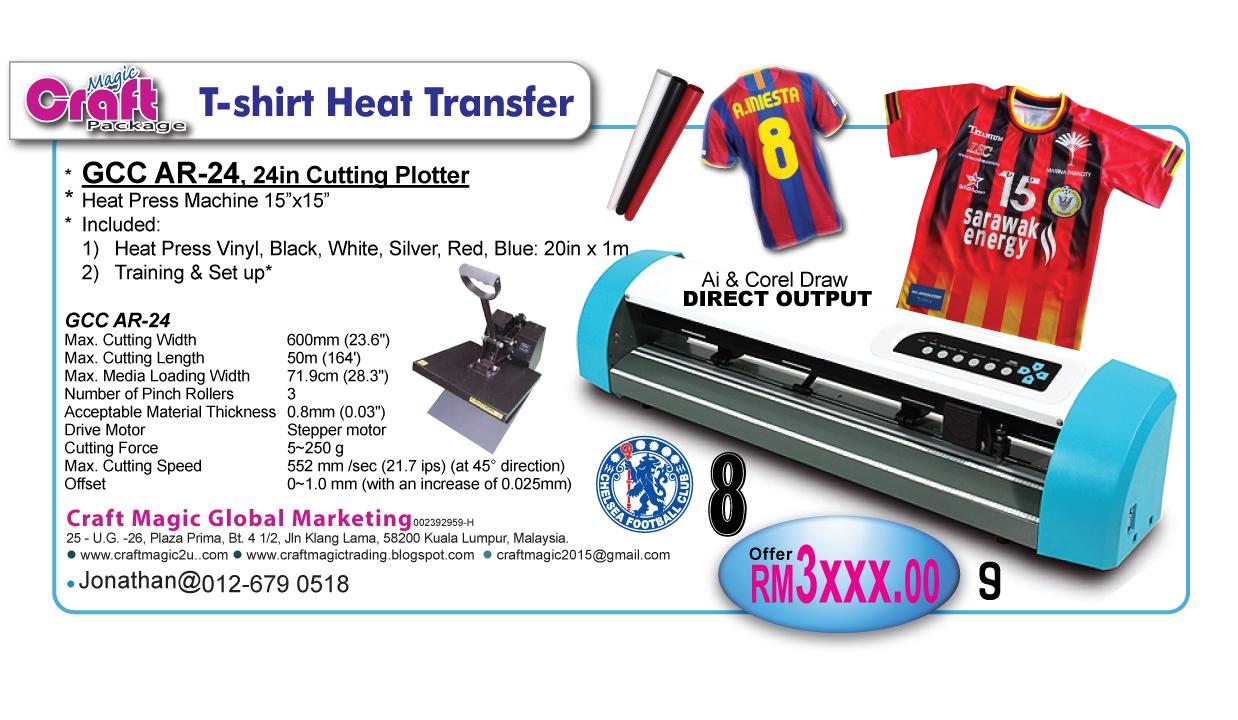Craft Magic Global Marketing: T-shirt Heat Press Package