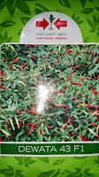 benih petani,tahan virus, buah lebat, cap panah merah, tahan layu, tahan cekaman calcium, Cabai, Dewata 43, Cabai Kecil cabai Rawit, Harga murah,
