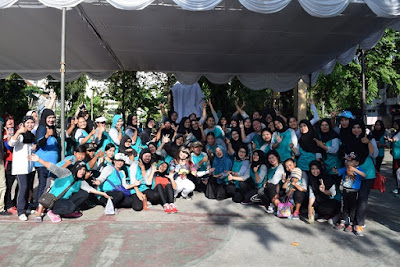 Foto bersama para peserta senam