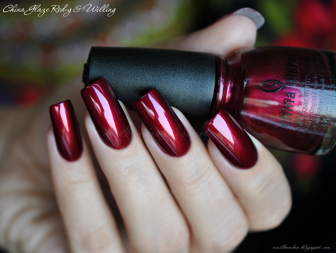 Nailbamboo China Glaze Red Y Amp Willing