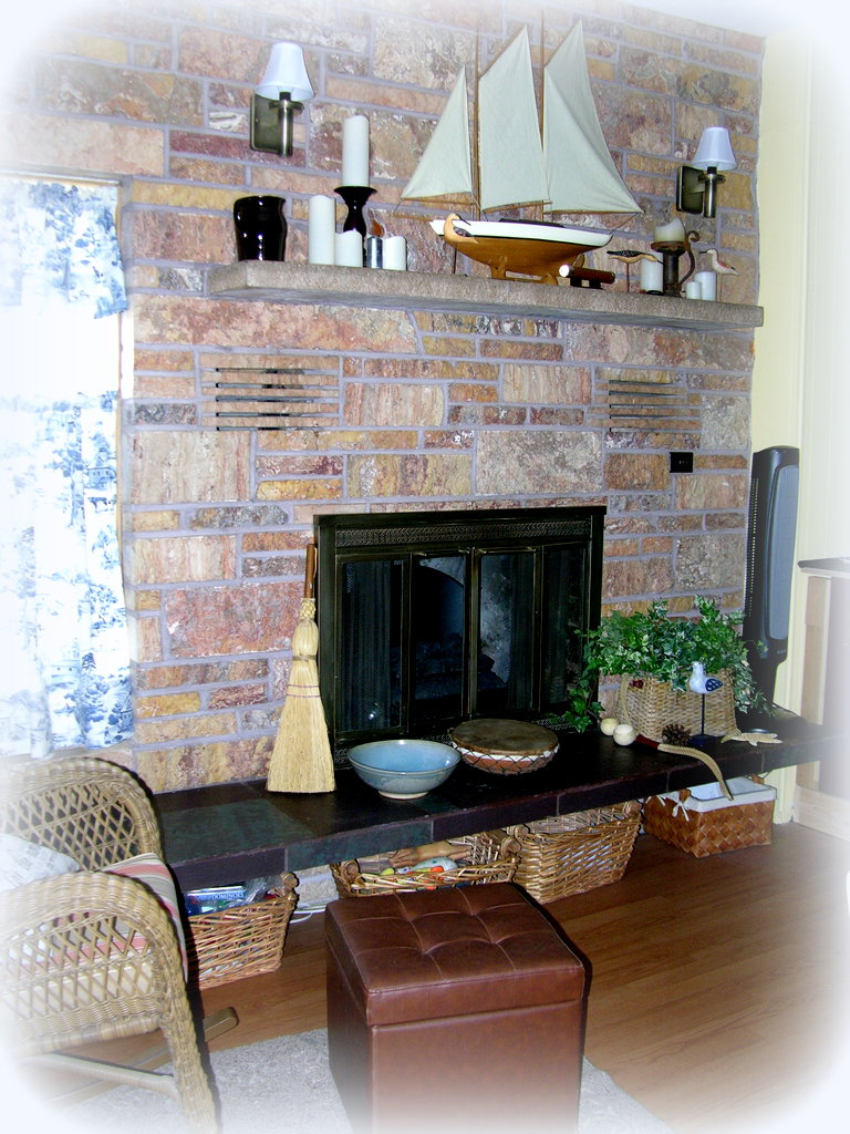 Crafty Home Cottage: Fireplace Transformation