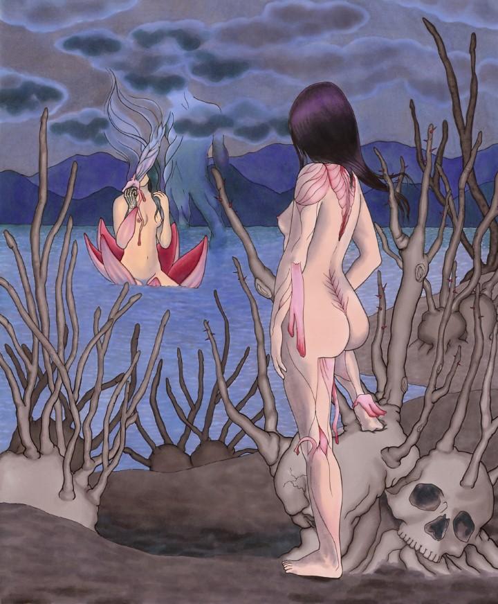Thea Wolfe. Рисунки акварелью 3