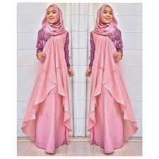 Model Long Dress Untuk Lebaran
