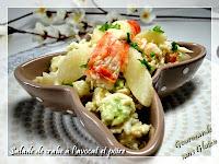http://gourmandesansgluten.blogspot.fr/2014/09/salade-de-crabe-lavocat-et-la-poire.html