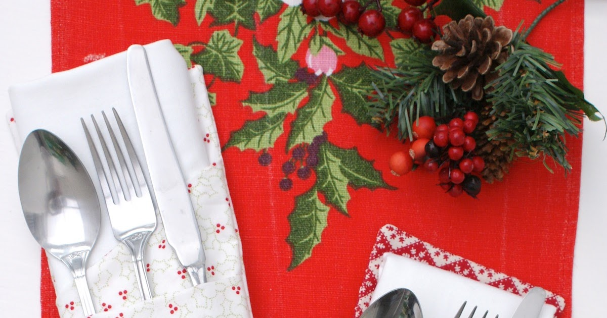 Quilt Story Holiday Tutorial Cutlery And Napkin Holder