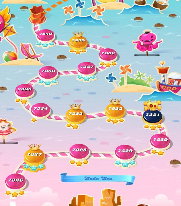 Candy Crush Saga level 7326-7340