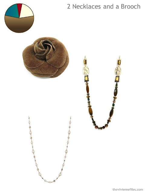 adding a brooch and 2 necklaces to a 6 by 4 Accessory Wardrobe