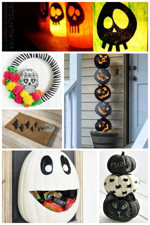 20 Halloween Decor Crafts For Your Front Door Porch Frugal