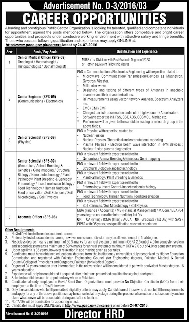 Doctors, Accounts and Science Subjects Jobs in Pakistan Atomic Energy Commission Jobs