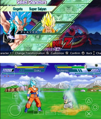 Download Dragon Ball Z Shin Budokai 2 Mod God Blue PSP