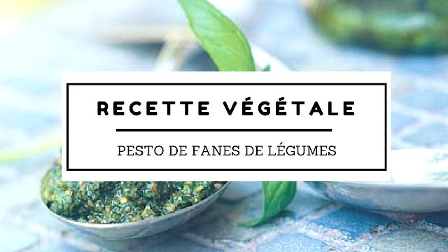 recette pesto fanes de légumes vegan végétalien