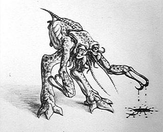 Battleship Alien Concept Art Sculpture David