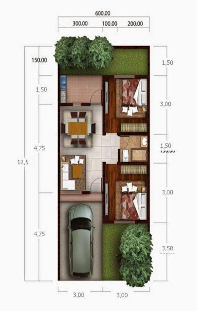25 Unik Denah Tata Ruang Rumah Minimalis - Design Info On ...