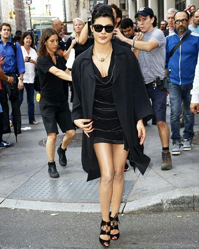 Priyanka Chopra - Looks Chic in her Black Outfit