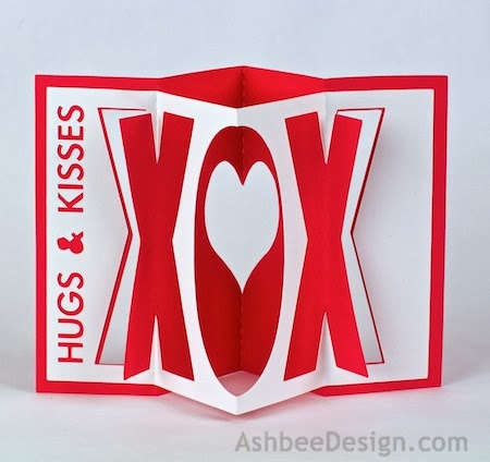 This Tutorial Covers Both The Valentine Accordion Variations The Xox And The Heart Here Are The Finished Designs They Are Sized To Fit In A Standard A