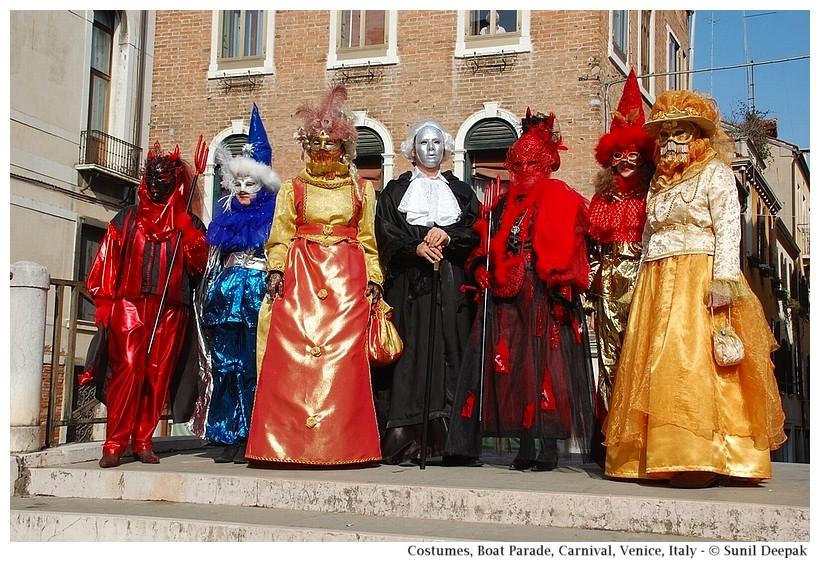 Carnival costumes, Boat Parade, Carnival, Venice, Italy - © Sunil Deepak
