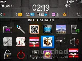 5. Aplikasi BlackBerry Info Kesehatan Keluarga siap diakses