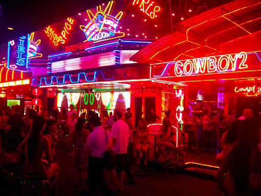 Bangkok nightlife at soi cowboy at Asok