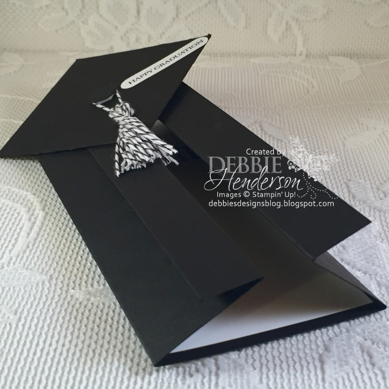 Debbie\'s Designs: Graduation Gown Cards....Two Of Them!