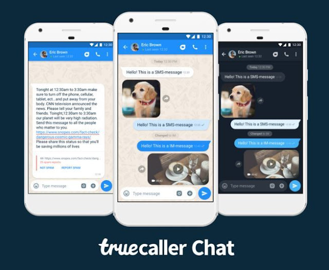 The famous Truecaller app that identifies caller ID launches a chat service to compete with the wattab to identify it