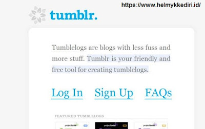 Inilah tampilan pertama kali dari website terkenaly