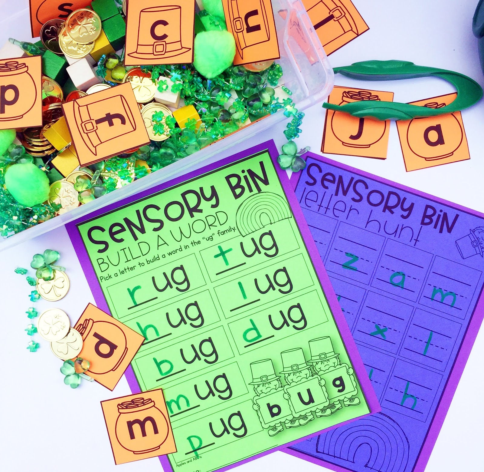 March Sensory Bins In Kindergarten