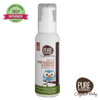 Pure Beginnings Soothing Baby Massage and Bath Oil spray container