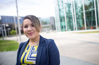 United National Indian Tribal Youth (UNITY) recently named UAA student Michele Kawahine Danner to its 2016 Top 25 Under 25 list. (Photo by Theodore Kincaid / University of Alaska Anchorage)