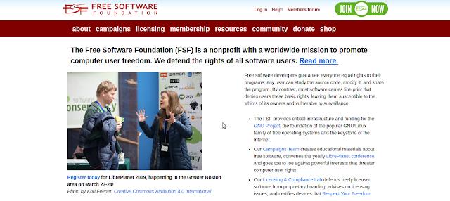 gnu savannah atau dikenal free software foundation