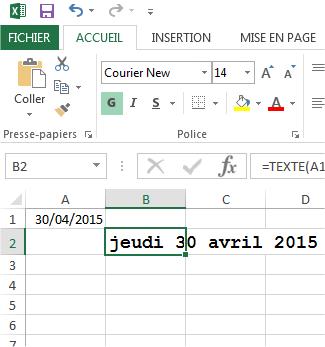 Excel Convertir Une Date En Texte Les Bonnes Formules Astuces
