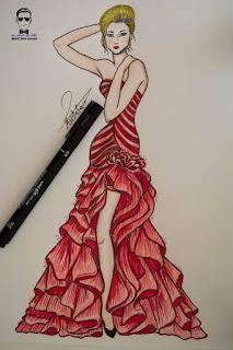 تعلم رسم فتاة مع فستان سهرة مميز