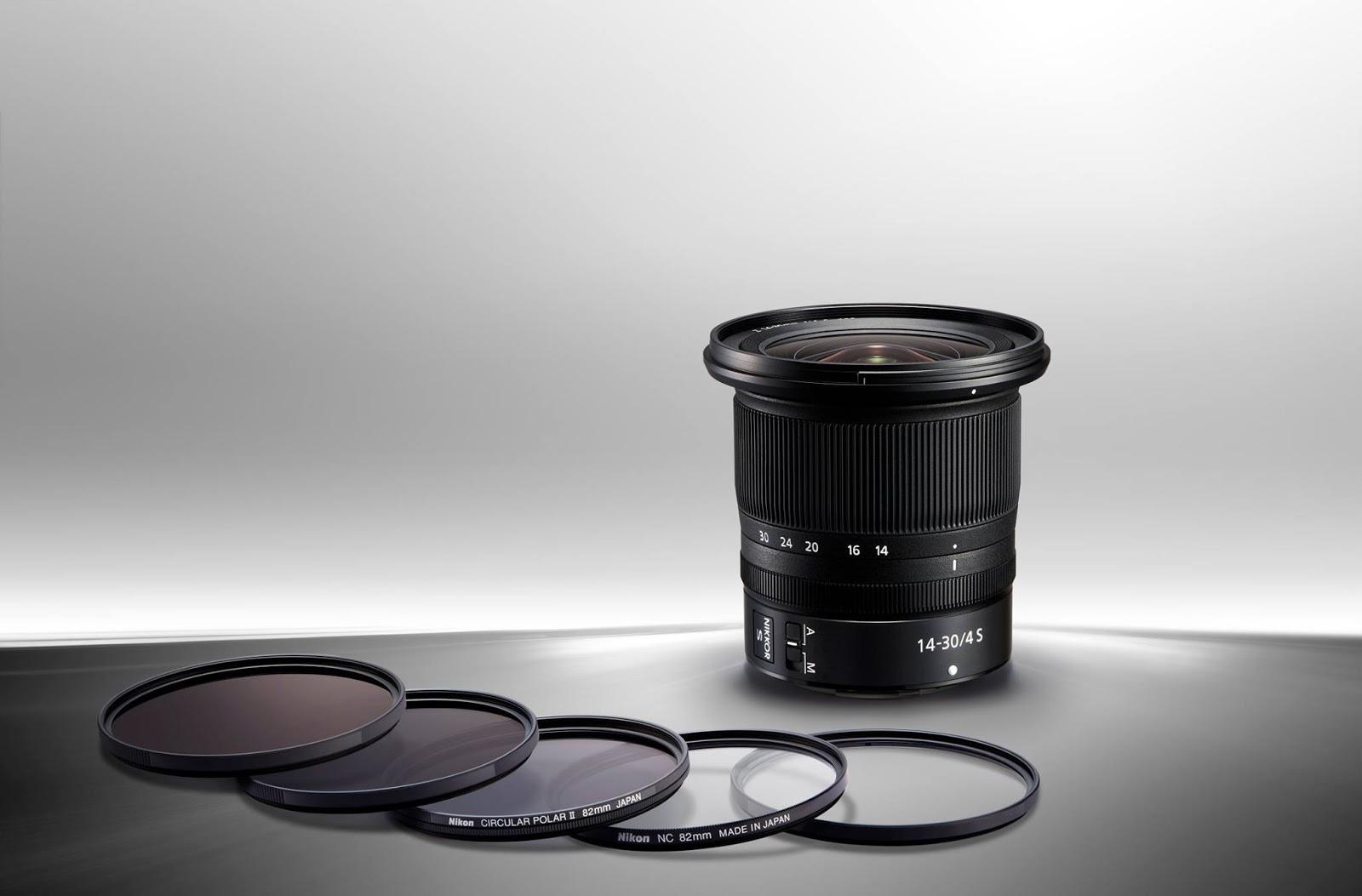 Объектив Nikon Nikkor Z 14-30mm f/4 S с фильтрами