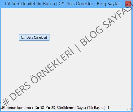 C# Sürüklenilebilen Dinamik Buton Kodları