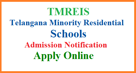 TMREIS Telangana Minority Residential Schools 5th 6th 7th 8th 9th Class Admission Notification 2018