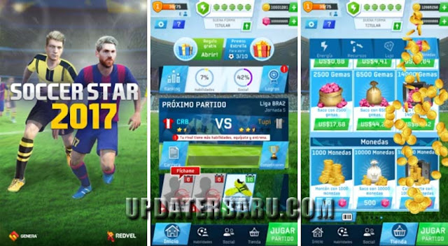 Download Game Soccer Star 2017 Top Leagues v0.3.7 Mod Money Apk Data For Android Versi Terbaru