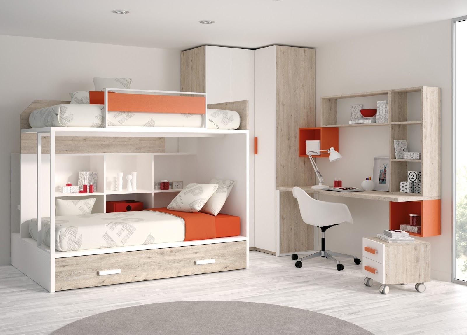 Habitaciones juveniles con litera - Habitaciones con literas juveniles ...
