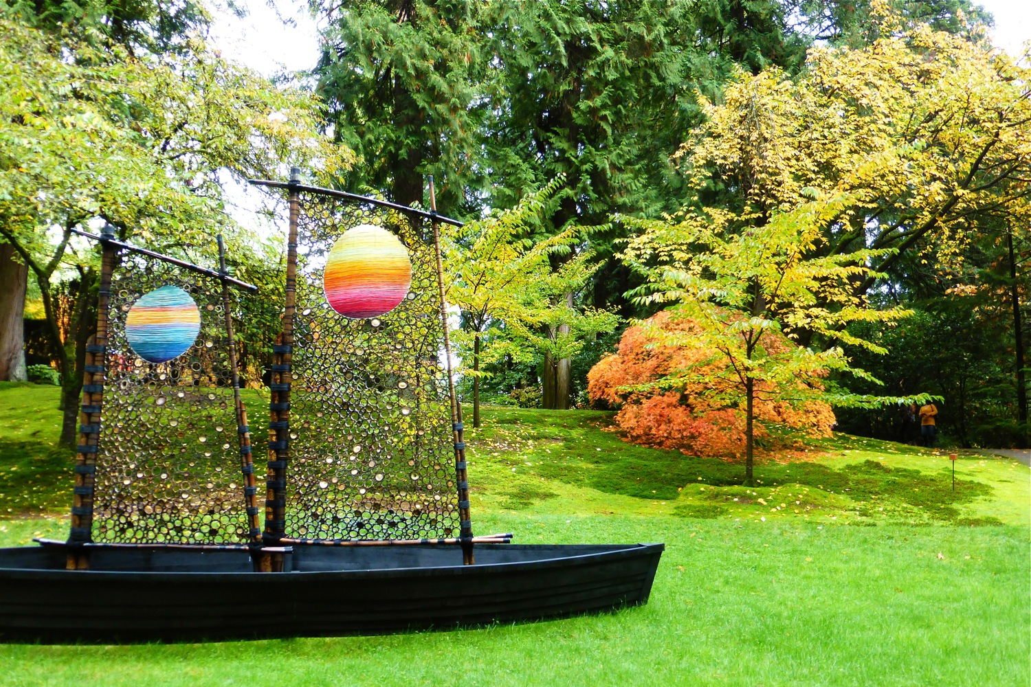 Sculpture in Portland Japanese Garden