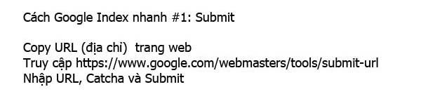 google index nhanh submit