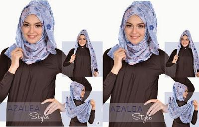 Tutorial Hijab Pasmina Bermotif yang Cocok Untuk Weekend