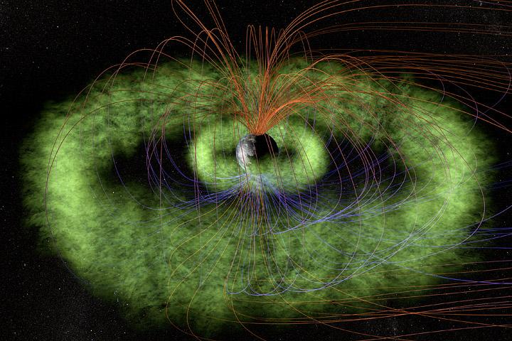 8a7c4c9df تم اكتشاف هذه الظاهرة بواسطة فان آلين بالصدفة عندما دل عداد الاشعة في مسبار  إكسبلورر عن نشاط إشعاعي على ارتفاعات عالية عن سطح الأرض،