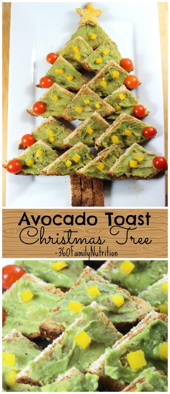 360familynutrition avocado toast christmas tree appetizer - Christmas tree shaped appetizers ...