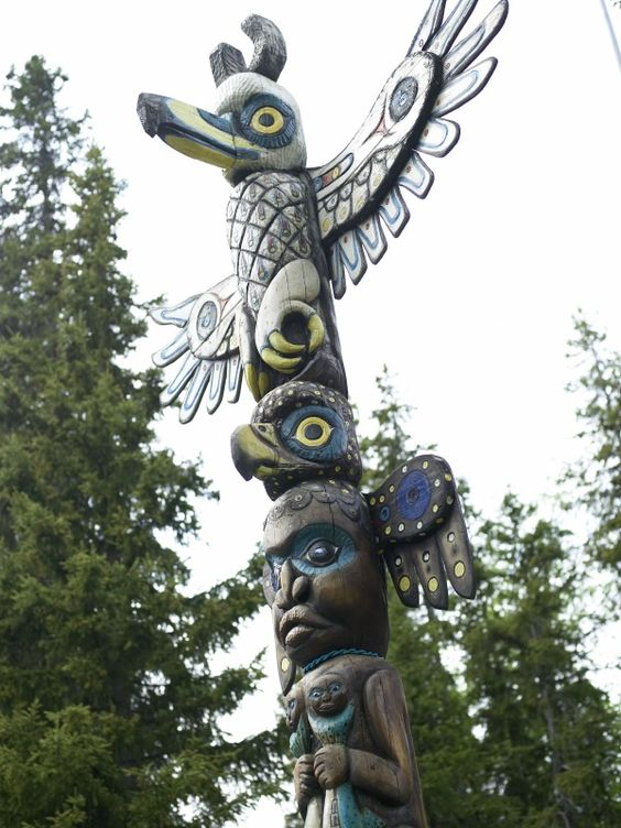 Totem Bight State Historic Park, Alaska, USA