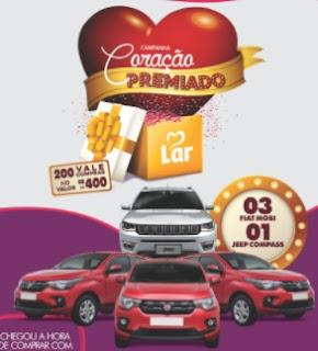 Promoção LAR Supermercados e Postos Coração Premiado 2017 2018