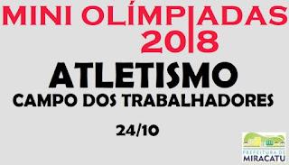 Departamento municipal de esportes realiza mini olimpíadas em Miracatu