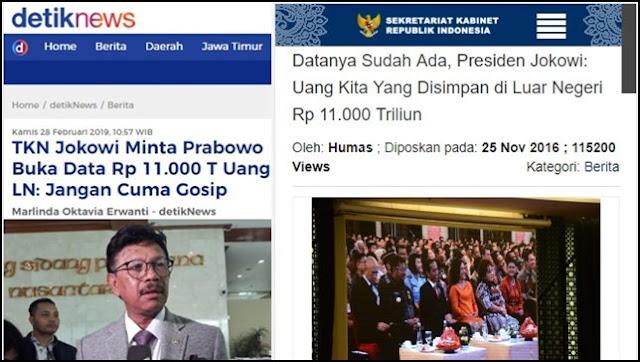 Minta Prabowo Buka Data Uang Rp11.000 T di Luar Negeri, TKN Jokowi Ketampol Sendiri
