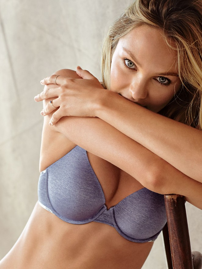 Candice Swanepeol models lingerie for Victoria's Secret August 2015 Lookbook